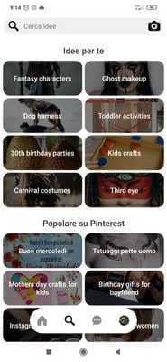 Pinterest album fotografico
