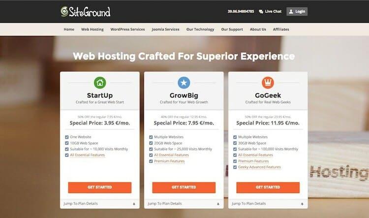 crea un sito web in autonomia
