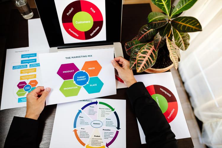 marketing plan manager desk